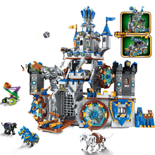 QWZ War of Glory Castle Knights The Battle Bunker Legoes Building Blocks Educational Bricks Kids Toy Boy Gift цена