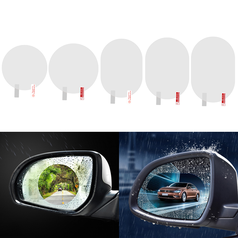 1pcs Car Mirror Window Clear Film Anti Fog Car Rearview Mirror Protective Film Waterproof Car Sticker Styling Auto Accessories