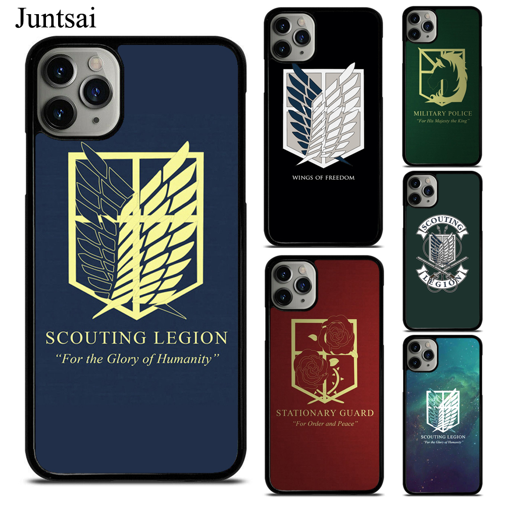 Attack on titan Scouting Legion Logo TPU Phone Case For iPhone X XS Max XR 7 8 SE 2020 6S Plus 5 11 Pro Max Cover Coque image