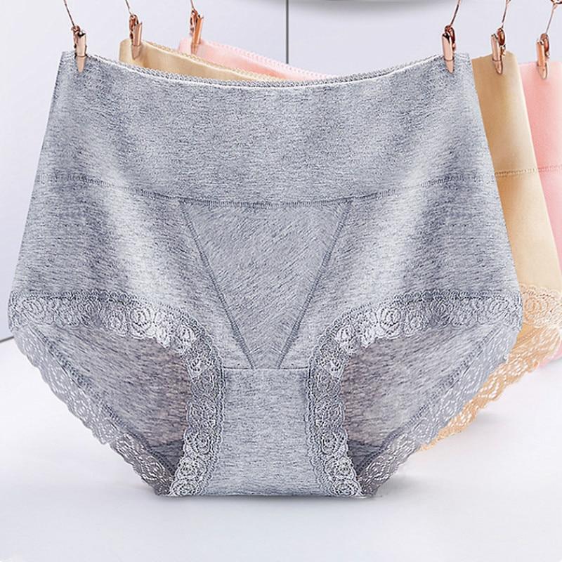 Quality High Waist Cotton Lace Women Underwear Seamless Big Size Oversize  Ladies Plus Size XL/XXL Briefs  Intimates Underpants