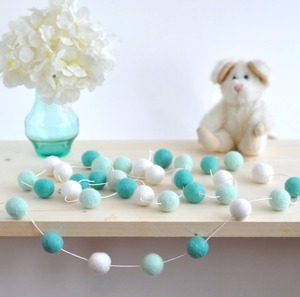 2M Handmade 30pcs Macaron Colored Ball Decoration With Balls Baby Tent Room Wooden beaded Pendant Decor Wall Hanging B1800