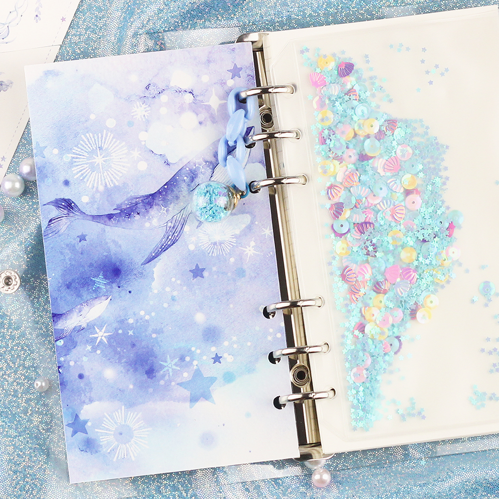 2020 NEW Cute Ocean Starry Sky Loose Leaf Diary Notebook A5 A6 Bullet Journal Monthly Sprial Note Book Agenda Planner Gift Set