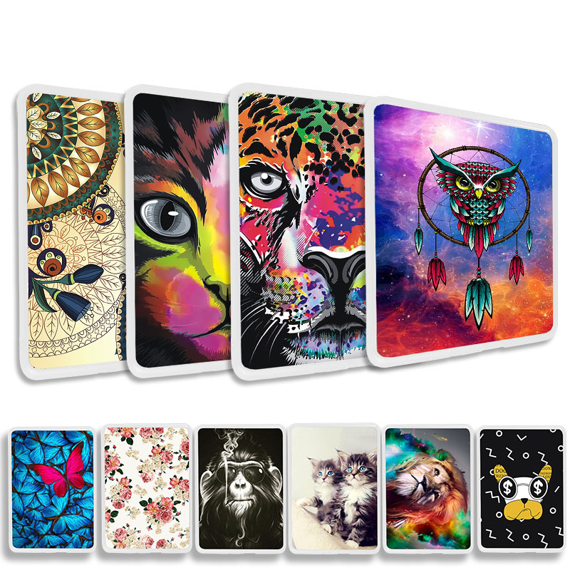 Painted Soft TPU Tablet Case For Amazon <font><b>Kindle</b></font> 6.0 <font><b>2019</b></font> <font><b>10</b></font> 10th Generation All-new 360 Full Protecive Silicone Shockproof <font><b>Cover</b></font> image