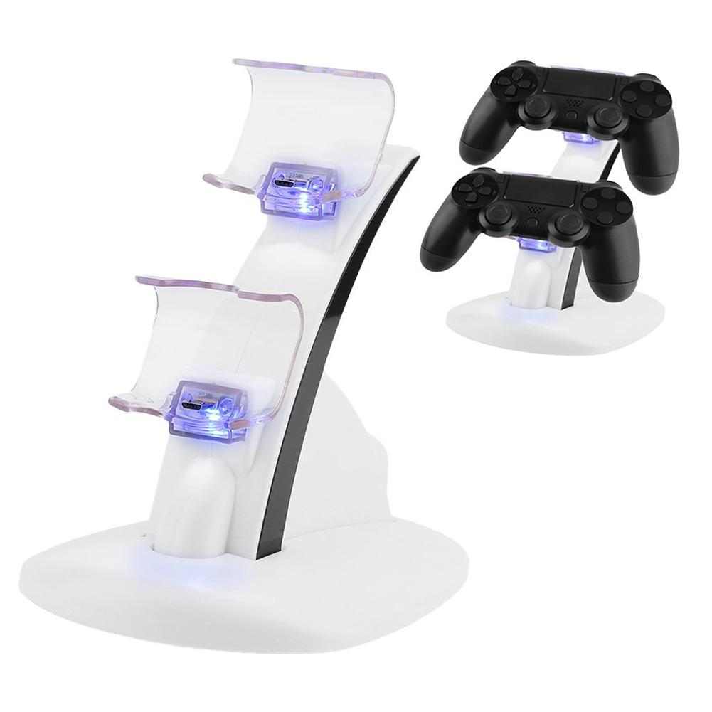 Portable Dual Slots Controller Charger Dock Station Stand for PlayStation PS4