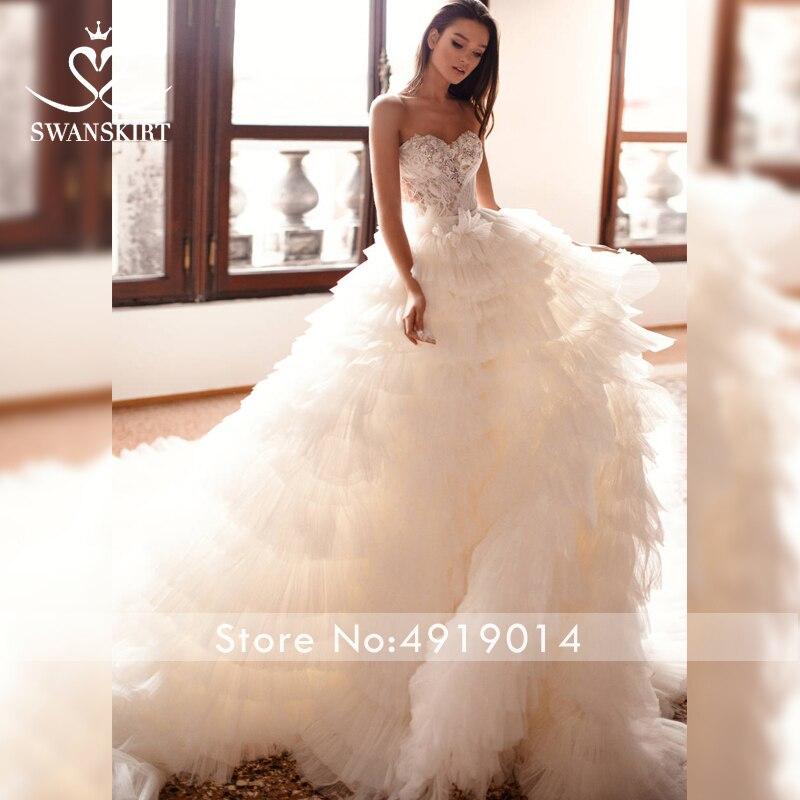 Image 3 - Милое Свадебное платье с бусинами; Роскошная юбка; Бальное платье с аппликацией; Платье принцессы с отстегивающимся рукавом; Свадебное платье; Vestido de NoivaСвадебные платья    АлиЭкспресс