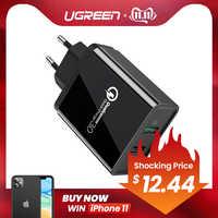Ugreen Charge rapide 3.0 30W QC USB chargeur mural pour Samsung Xiaomi iPhone X QC3.0 chargeur ue adaptateur rapide chargeur de téléphone portable