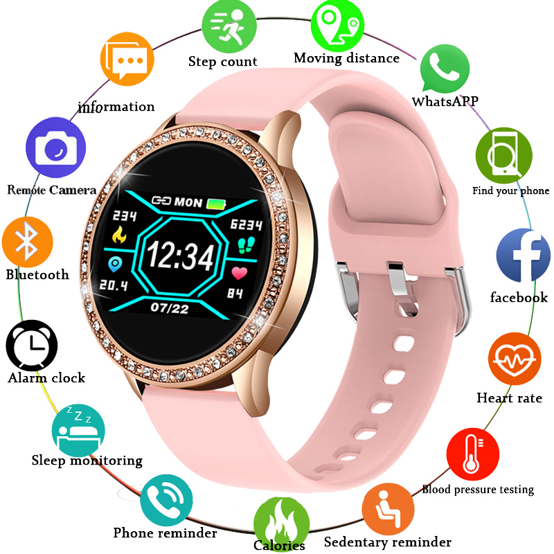 LIGE 2020 New Smart Watch Women Heart Rate Blood Pressure Multifunction Mode Motion Fitness Tracker Fashion Ladies Smartwatch