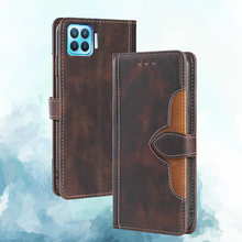 For OPPO F17 Pro A93 Case Book Wallet Magnetic Leather Flip Cover Card Stand Soft Cover Luxury Mobile Phone Bags Reno 4 Lite 4F