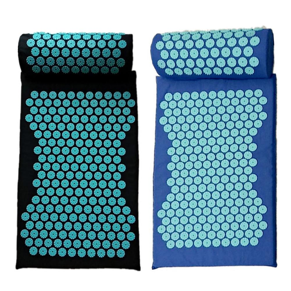 Acupressure Massage Mat including Pillow Sets to Relieve Stress and Back Pain with Spike