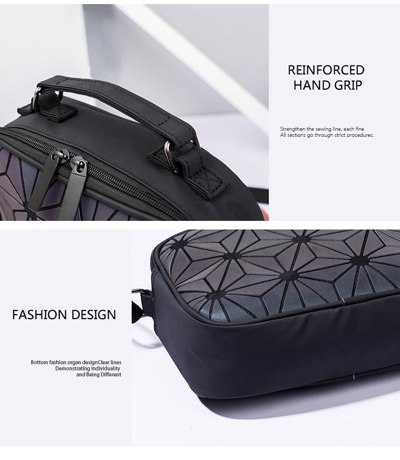 Luminous Geometric Ladies Small Square Shoulder Bag - womens-handbags, google-feed-new
