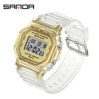 SANDA-reloj deportivo Digital para mujer, cronómetro de lujo, a prueba de agua, de pulsera, para niña, 2021