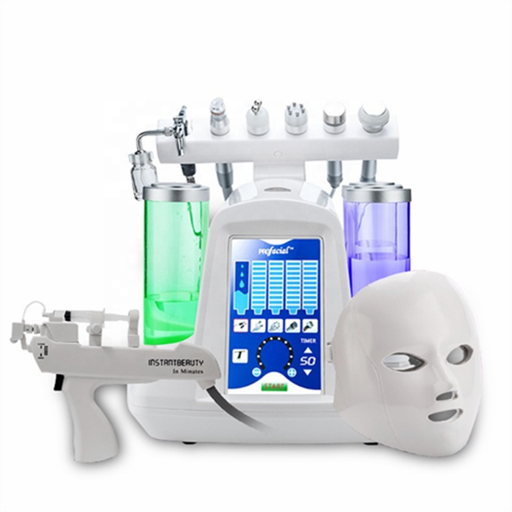 8 In 1 Hydra Dermabrasion RF Bio-lifting Spa Facial Machine Water Oxygen Jet Hydro Diamond Peeling Microdermabrasion