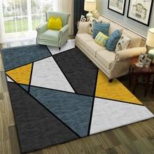Геометрический Противоскользящий коврик, комнатный декоративный коврик с принтом, прикроватный коврик для гостиной, спальни, эркера, диван...