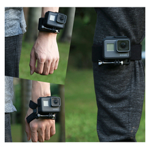 360 Degree Rotation Hand Wrist Strap for GoPro Hero 7/6/5/4 Go pro Hand Mount Holder Leg Band for Xiaomi yi 4k SJ4000 цены онлайн