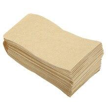 Nosii 100 Uds bolsas de papel Kraft callos semillas de arroz trigo bolsa de almacenamiento de envases regalo bolsa de caramelo Vintage papel marrón de boda 6X11CM