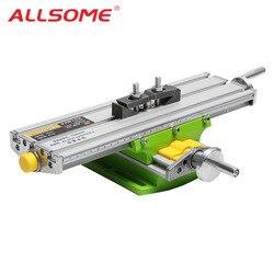 ALLSOME MINIQ BG6330 мини прецизионный фрезерный станок Рабочий стол многофункциональный дрель тиски приспособление Рабочий стол HT2829