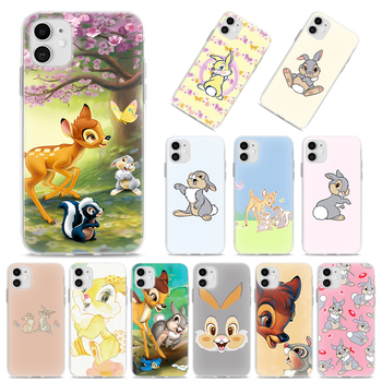 Silicone Case Coque for Apple iPhone 11 Pro XR X XS MAX SE(2020) 11 Pro MAX 7 8 6 6S Plus 5S TPU Soft Cover Bambi Thumper silicone phone case for iphone 8 7 6 6s plus x xr xs max soft tpu van gogh starry night cover for apple iphone 11 pro max coque