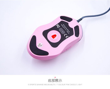 Pink Computer Mouse Colorful Backlit Gaming Mouse Optical Wired Mouse Fashion Sailor Moon Mouse Girl Women Silent Mouse 2400DPI 5