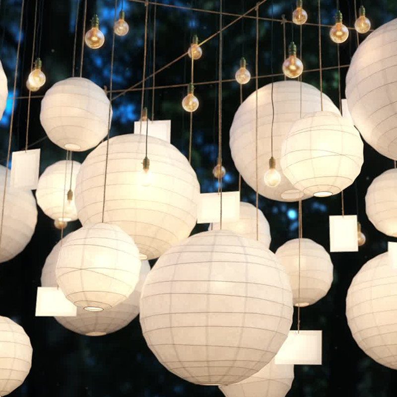 10/15/20/25/30cm Colorful Chinese Paper Lanterns For Wedding Birthday Decor DIY Lampion Paper Hanging Ball Holiday Party Supplie(China)