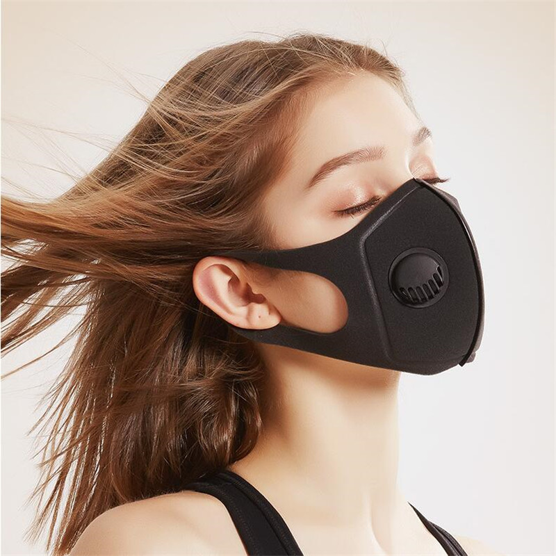Black Thicken Breathable Anti Dust Mouth Face Mask Reusable Unisex PM2.5 Windproof 4-layer Protective Mouth Muffle Mask Fashion