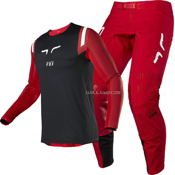 2020 DELICATE FOX MX/ATV Racing Flexair Redr Mens MX Offroad Flame Red Jersey Pant Vented Adult Gear Combo