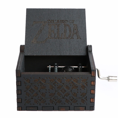 Прямая поставка, черная деревянная музыкальная шкатулка, игра в трон, Caja, музыкальная Zelda, ручная работа, Деревянная Музыкальная Коробка, рождественский подарок - Цвет: Zelda-BK