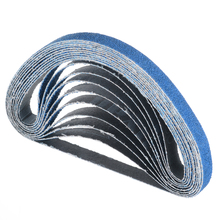 10pcs/set Mixed 40/60/80 Grit Zirconia Sanding Belt 13mm*457mm Sander Polishing Abrasive
