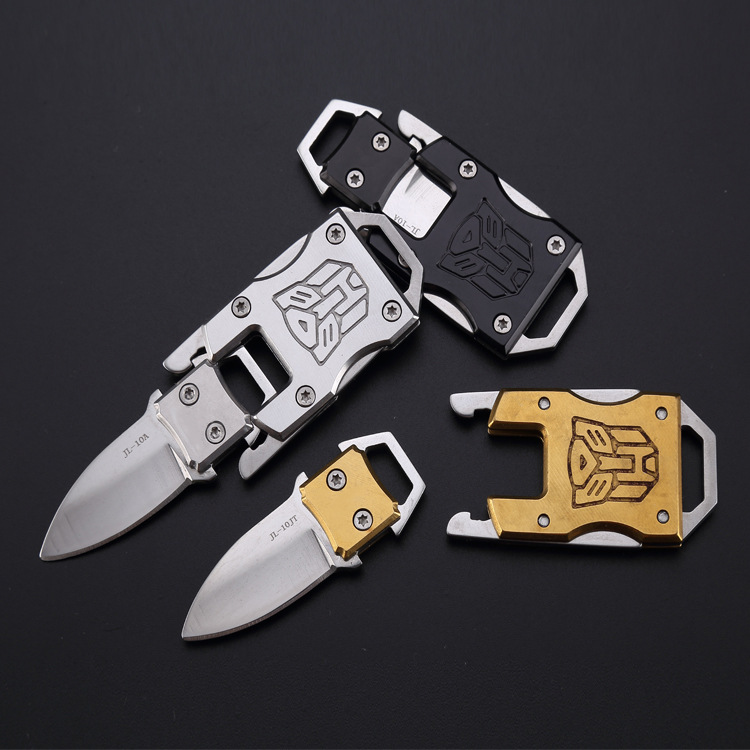 1pcs Outdoor Camping Survival Multi Function Transformer Knife EDC Tactical Protect Packet Knife Self Defense Dropship Security