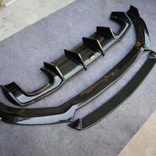 Углеродного волокна передний бампер для губ задний бампер диффузор спойлер Подходит для Audi A3 S3 RS3 Sline