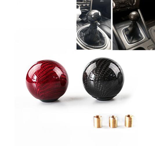 Универсальный автомобильный углеродного волокна ручка переключения рулевого механизма автомобиля рычаг Stick Headball