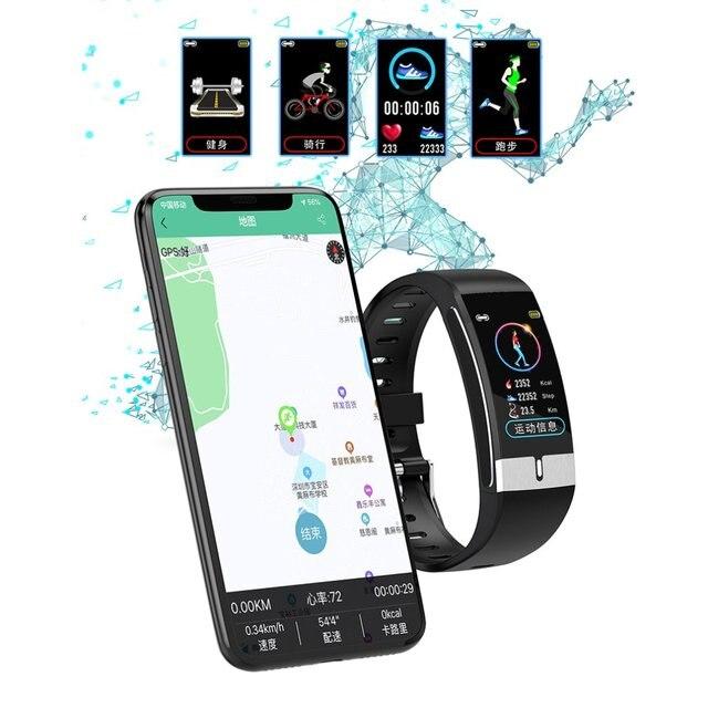 Купить e66 с цветным смарт экраном браслет экг + ppg тест браслет мониторинг картинки цена