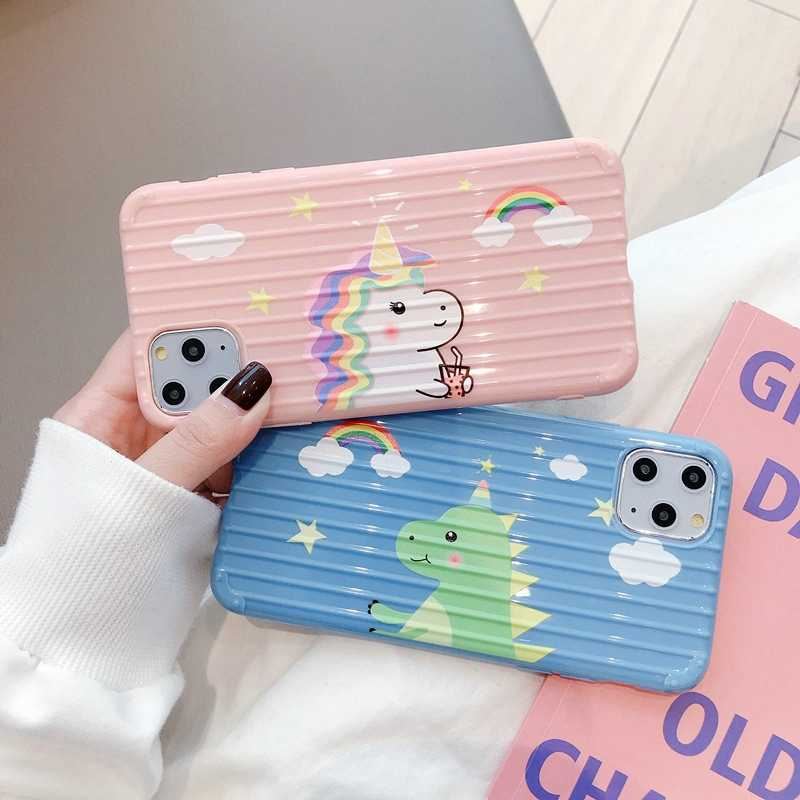 Luggage Unicorn For Huawei P Smart 2019 Mate 20 30 Lite Mate20 P20 p30 Lite Pro Case Cartoon For Huawei Honor 9 10 8X Cases