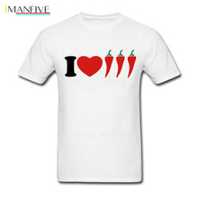 I Love Chilli Male T Shirt Casual Normal Loose Comfortable Cool Tops Boy Summer O Neck Tshirt Teenage New Coming Simple Clothing