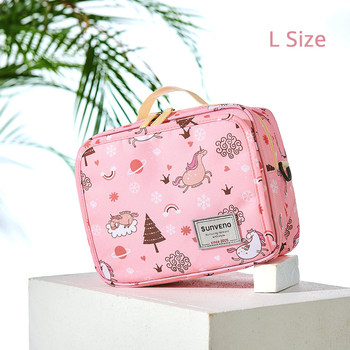 Sunveno Baby Diaper Bags Maternity Bag for Disposable Reusable Fashion Prints Wet Dry Diaper Bag Double Handle Wetbags 21*17*7CM 13