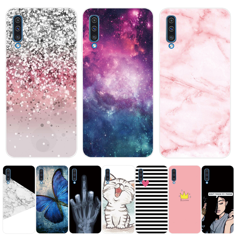 Soft Silicone TPU Case For <font><b>Samsung</b></font> Galaxy <font><b>A50</b></font> Cases 6.4'' <font><b>2019</b></font> Fashion Back Case For <font><b>Samsung</b></font> <font><b>A50</b></font> A 50 A505 A505F Phone <font><b>Cover</b></font> image