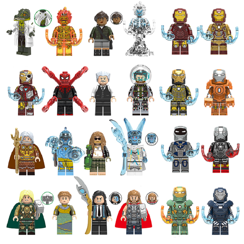 Super Heroes Single Sale Building Block Figures IRON MAN SPIDERMAN THOR Bricks Toys For Children Compatible With LEgOINGs