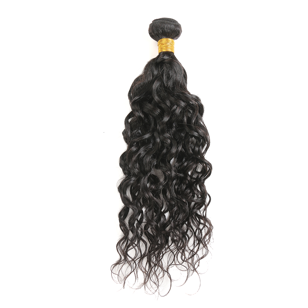 Water Wave Human Hair Bundles SOKU 8 30 Inch Brazilian Hair Weave Bundles 1 PC Natural Color Human Hair Extensions Non Remy Hair in Hair Weaves from Hair Extensions Wigs