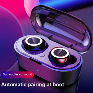 Image 4 - Wireless Earphones Bluetooth 5.0 Handsfree Headphone Stereo Headset sport Earbuds Earphone with Mic For iPhone Samsung Xiaomi
