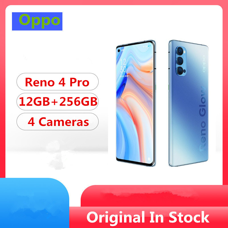 """Original Oppo Reno 4 Pro 5G Mobile Phone Snapdragon 765G Android 10.0 6.5"""" 90HZ 12GB RAM 256GB ROM 48.0MP 65W Super Charger