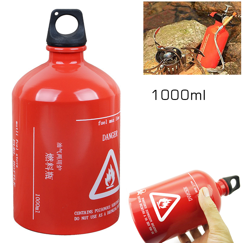 35oz 1000ML Gas Oil Fuel Bottle Motorcycle Emergency Petrol Gasoline Canister For Camping/hiking/picnic/backpacking/outdoor Cook