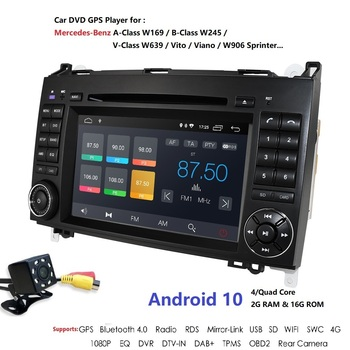 Android 10 DSP Auto Radio Car DVD GPS For Mercedes Benz B Class B200 W169 W245 W639 Viano Vito Sprinter B170 Headunit Stereo USB image