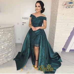 Длинное вечернее платье с аппликацией и бусинами на заказ, 2019
