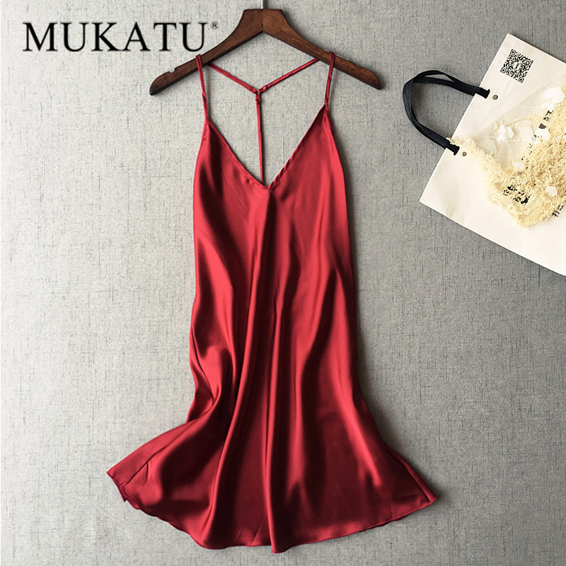 New Women Sexy Saked Sack Satin Nightgowns Home Dress Sexy Nightwear Satin Sleepwear Night Shirt Female Silk Dress Sleep Lounge