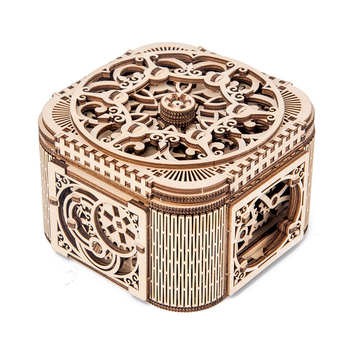 Model Game Teens Wooden Gifts Children Decorative Mechanical Transmission Storage Jewelry Box Assembled 3D DIY