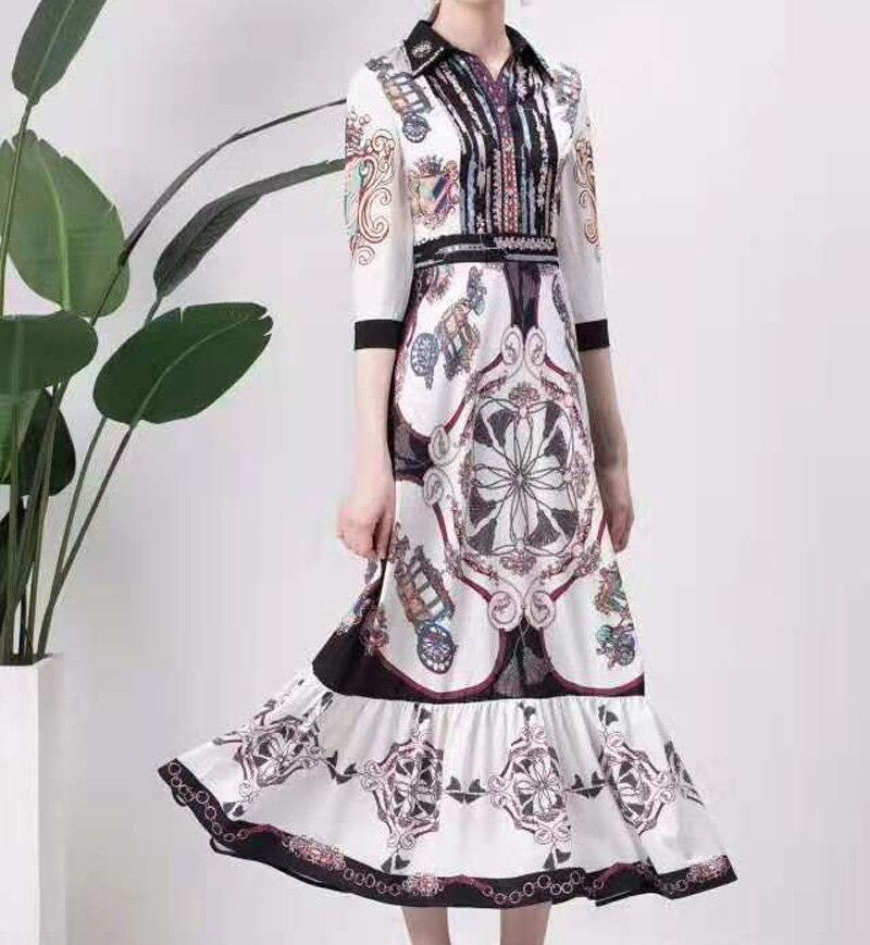 Одержимый лавандой. Новые платья, принты, этнические стили, осень, женская одежда, узоры, талия, элегантные вечерние - 2