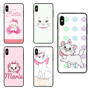 Marie Aristocats Black Soft TPU Coque Case Capa For Xiaomi Redmi Note 4 5 5A 6 7 8 8T 9 9S Pro Max For Youth image