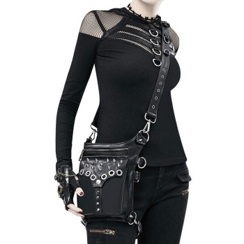 Women Waist Bag Female Fanny Pack Belt Bags Small Leg Bag Steampunk Bags Gothic Messenger Bag Hip Hop Bum Pack Fashion Purse D02