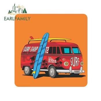 EARLFAMILY 13cm x 12,9 cm para Surf Hawaii Camper Car calcomanía de camión parachoques ventana Anime moda impermeable motocicleta coche pegatinas