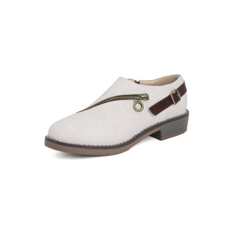 Новый 2021, подходят для весны и осени, размера плюс обувь; Размеры до 42, 43, 44, 45, 46 женские круглый носок на низком квадратном каблуке без шнуров...