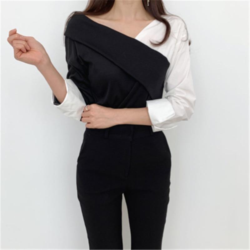 Купить женская повседневная блузка осенняя винтажная цветная блузка